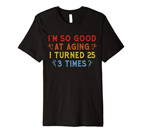Vintage 75 Years Old 1945 B Day Gift Funny 75th Birthday Premium T-Shirt