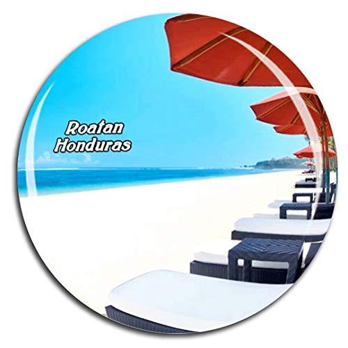 Roatan Honduras Fridge Magnet 3D Crystal Glass Tourist City Travel Souvenir Collection Gift Strong Refrigerator Sticker