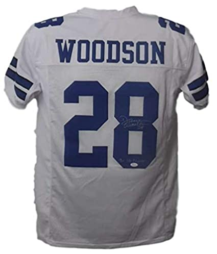 7be420c8 Darren Woodson Autographed Dallas Cowboys Custom White Jersey 3x SB Champs  JSA