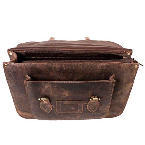 mujer Bolso para estilo cartera marrón Satchel Bags 4PfFBB