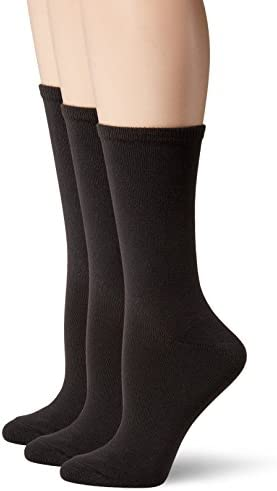 Hanes Women's 3-Pack Lightweight ComfortSoft Mid-Calf Crew Socks