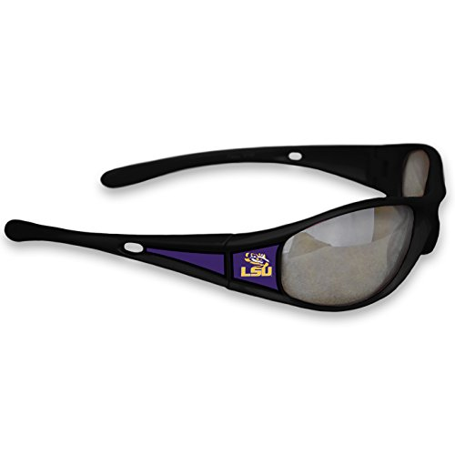 Lsu Tigers Logo Sunglasses - FTH LSU Tigers Black Sports Elite 3 Sunglasses with Logo