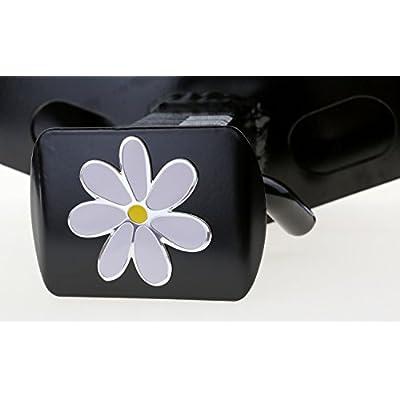 LFPartS Plumeria Flower 3D Emblem Metal Trailer Hitch Cover Fits 2