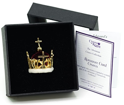 Crown Miniature - British Crown Jewels 1969 Prince of Wales Miniature Crown Hand Made in UK by Crowns&Regalia