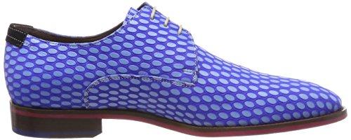 Floris van Bommel 14157, Scarpe Stringate Derby Uomo Blau (Br. Blue)
