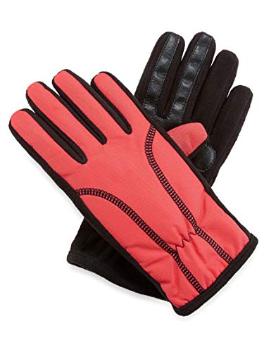 Isotoner Womens Active SmarTouch Touchscreen Thermaflex Fleece Lined Warm Winter Texting Gloves - Coral XS/S