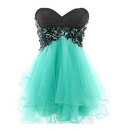 e2c3e9e63a1a1 1 Piece of Fashion mint green strapless homecoming dresses with ...