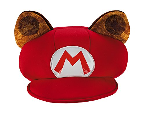[Disguise Mario Raccoon Super Mario Bros. Nintendo Child Hat, One Size Child, One Color] (Raccoon Girl Costumes)