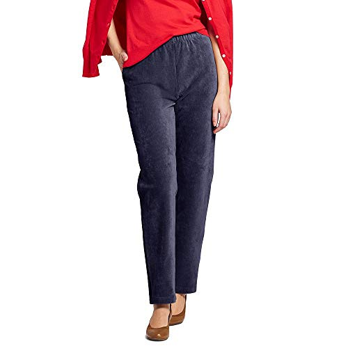 3a64a0edff9 Lands  End Women s Petite Sport Knit Corduroy Elastic Waist Pants High  Rise