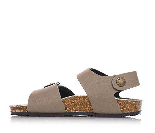 GRUNLAND - Sandale brun avec boucle, semelle intérieure en mélanges de latex et liège, garçon, garçons