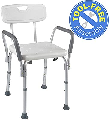 Medical ToolFree Assembly Spa Bathtub Shower Lift Chair Portable Bath Seat Adjustable Shower Bench