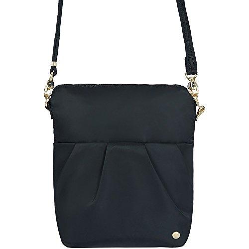 - PacSafe Citysafe CX anti-theft convertible crossbody Messenger Bag, 28 cm, 5 liters, Black (Black 100)