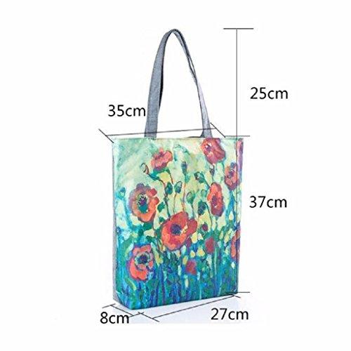 Movil Bolsa Imprimir QUICKLYLY Bolsa Para Niñas Mochila Baratos Mujer A Flores de Hombro De Multiusos Lona E7wSwCq