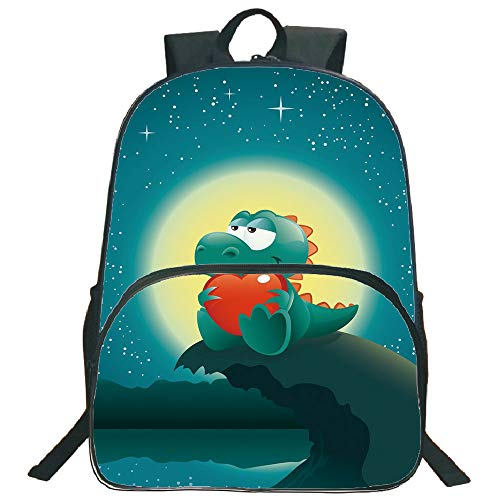 "Dinosaur 3D Print 16"" Backpacks,Valentine Night Scenery for sale  Delivered anywhere in Canada"