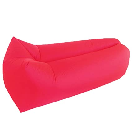 KfeiWO Puff Cama Playa Sofa Hinchable Tumbona Exteriores Impermeable Oxford Aire colchón portátil Saco de Dormir
