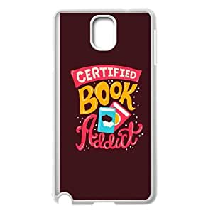 Samsung Galaxy Note 3 Cell Phone Case White quotes book addict BNY_6872075