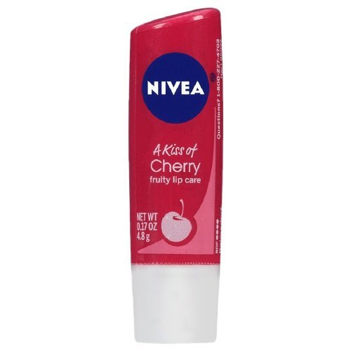 A kiss of Flavour Cherry Tinted Lip Care Nivea 5 ml Lip Balm For Unisex