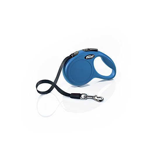Flexi New Classic Retractable Dog Leash (Tape), 10 ft, Extra Small, Blue (Dog Animal Leash Retractable)