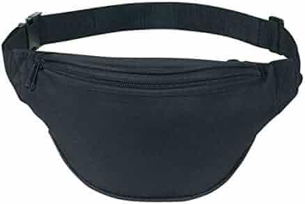 BuyAgain Waist pack, Unisex 2 Zipper Quick Release Buckle Travel Sport Running Waist Fanny Pack