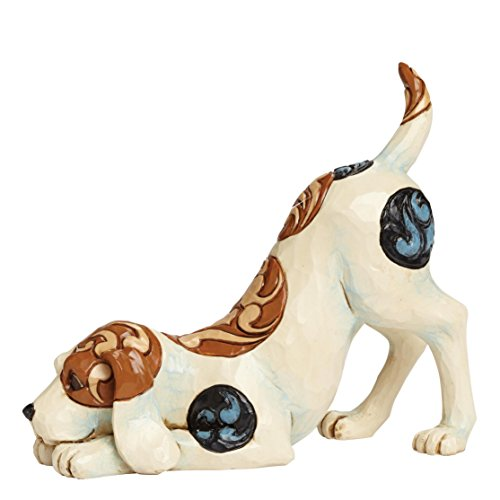 Department 56 Jim Shore Heartwood Creek Dog Playing Figurine, 4.75