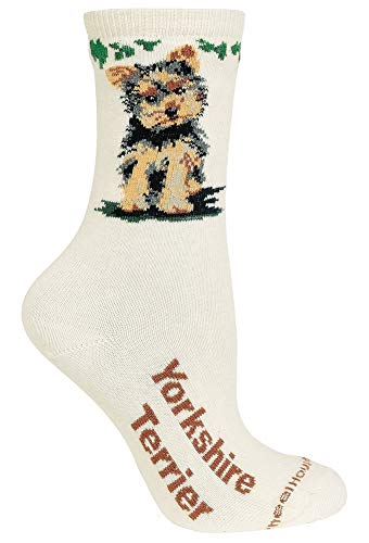 Yorkshire Terrier Puppy Natural Color Cotton Ladies Socks