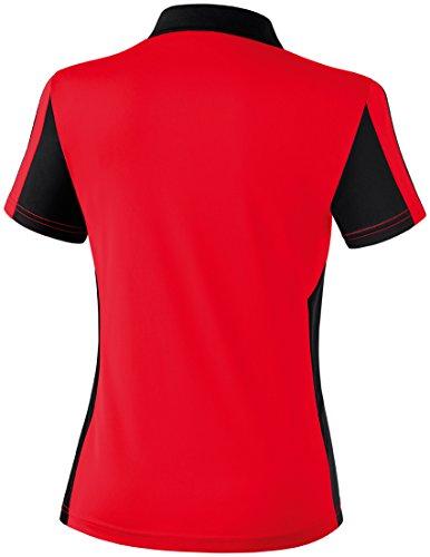 Mujeres Erima 5-CUBOS polo 5-CUBOS Serie rojo / negro / blanco, Opciones Tamaño: 44 Mujeres