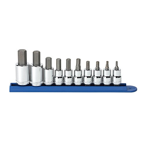 (GEARWRENCH 80578 10 Piece 3/8-Inch and 1/2-Inch Drive Metric Hex Bit Socket Set)