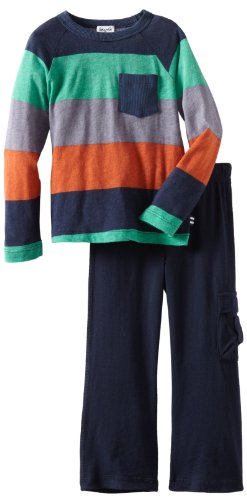Splendid Littles Little Boys' Colorblock Rugby Tee Set