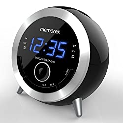Alarm Clock Radio, Memorex 10 In 1 Clock Radio, Digital FM Radio, Bluetooth Speaker, Dual Alarm, USB Charging Port, Night Light, Snooze, Sleep Timer, Time Setting,Dimmer, AUX-IN( MC3533)