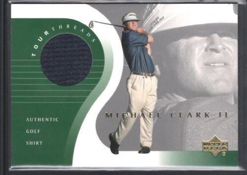 (MICHAEL CLARK II 2001 UPPER DECK TOUR THREADS GAME USED JERSEY SHIRT PGA SP $12)