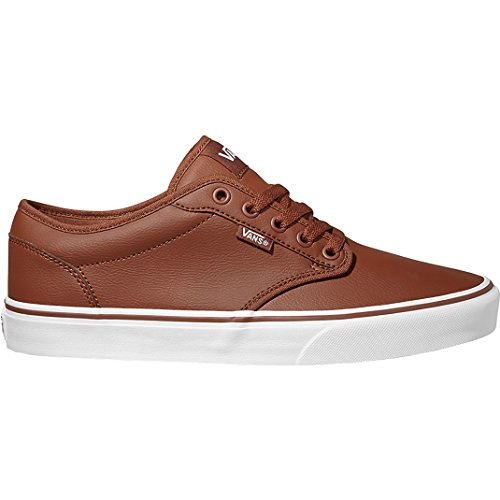 Vans Men's Atwood Synthetic Leather Low-Top Sneakers Brown ((Classic Tumble) Sequoia/White U0o) real cheap online latest collections online sale store brand new unisex cheap online discount brand new unisex 0vtrJ1EyXk