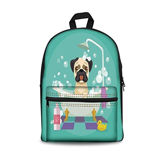 Mochila de diseño de moda para niños de vuelta a la escuela, bolsa de lona para libros, guardería, cachorro de perro en...