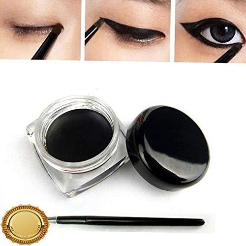 Gatton New Black Color Cosmetic Waterproof Eye Liner Eyeliner Shadow Gel MakeupBrush | Style MKPBRUSH-21181405