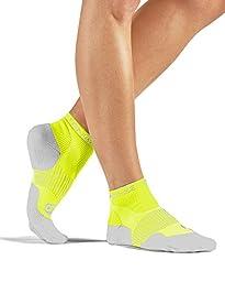 Tommie Copper Women\'s Performance Break Away Ankle Socks, Safety Yellow, 13-15.5