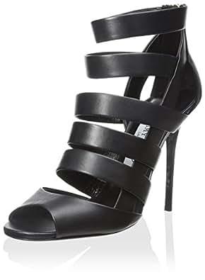 JIMMY CHOO Women's Damsen Heel Sandal, Black, 35.5 M EU/5.5 M US