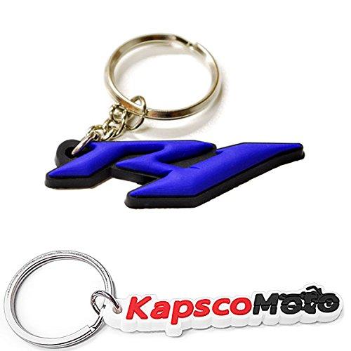 Krator YAMAHA YZF R1 YZFR1 KEYCHAIN KEY RING FOB LOGO DECAL MOTORCYCLE + KapscoMoto Keychain