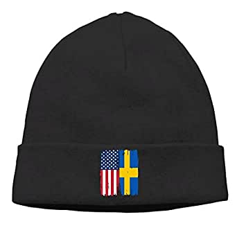 American Swedish Flag Men and Women Knit Hat Winter Warm