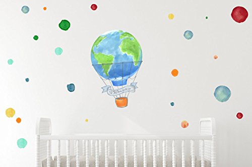 Amazon Com Oh The Places You Ll Go Baby Nursery Wall