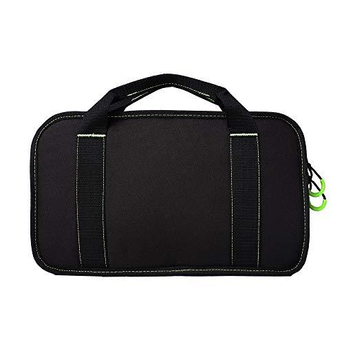 Kylebooker Single Pistol Case Tactical Handgun Bag (Black with Green)