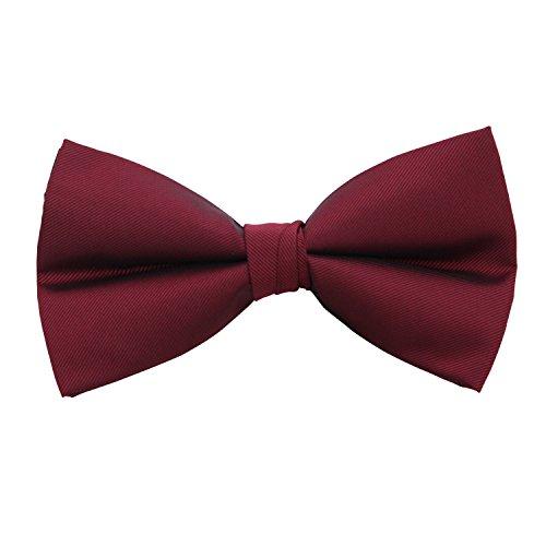 Vera Nuka Men's Pre-tied Bow tie (Wine Red)