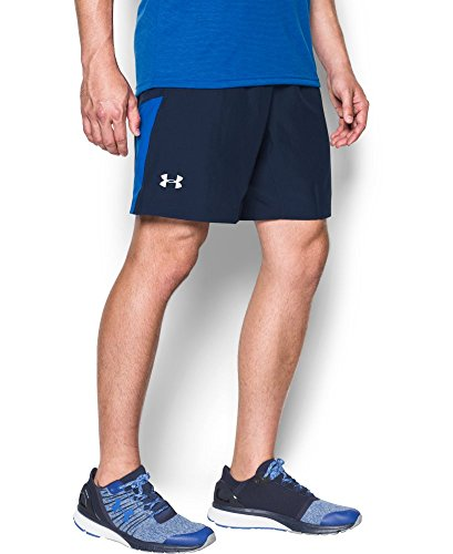 Under Armour Men's Launch Run 2-in-1 Shorts, Midnight Navy/Ultra Blue, Small