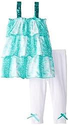 A.B.S. by Allen Schwartz Baby Girls' Chloe Set, Turquoise, 24 Months