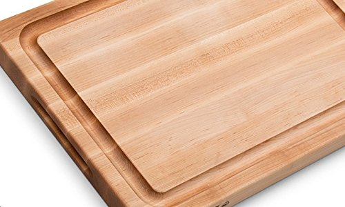 John Boos Maple Wood Edge Grain Reversible Cutting Board with Juice Groove, 24 Inches x 18 Inches x 1.5 Inches by John Boos (Image #1)