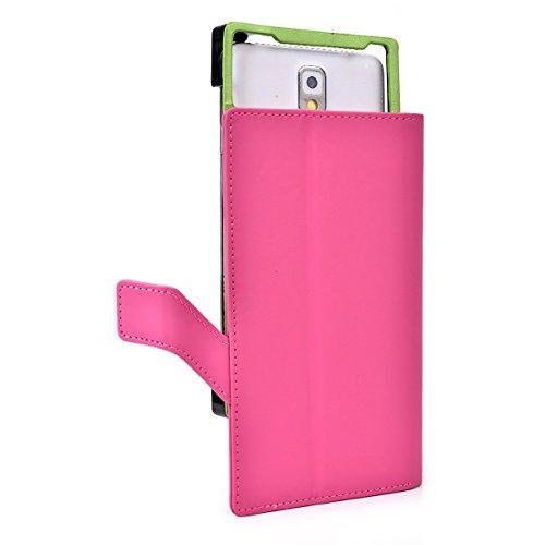 Karbonn Titanium S1 Plus Pink Smartphone Folio Flip Cell phone Case