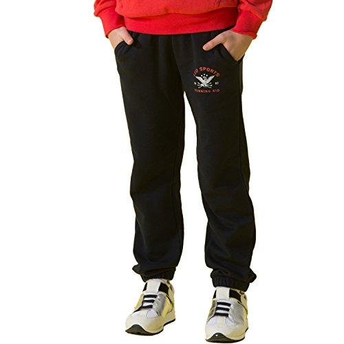 ports Fleece Husky Waist Pants Joggers Trousers (Navy, 16) ()