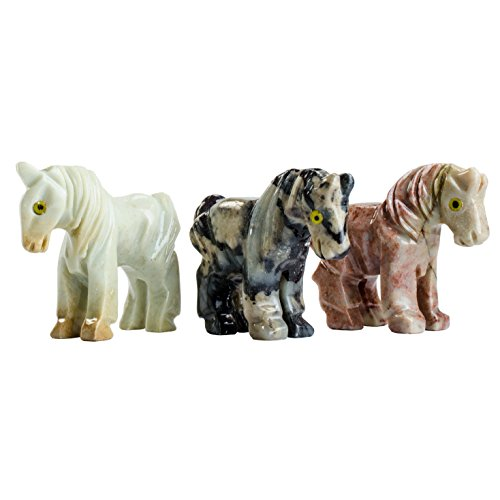 - Fantasia Creations: 10 pcs Horse Soapstone Animal Figurine - Hand Carved Master Artisans for Party Favors, Collecting, Wire Wrapping, Gifts and More!