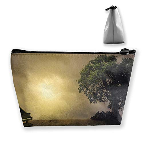 Trapezoid Toiletry Pouch Portable Travel Bag Piano Tree Zipper Wallet by Laur (Image #1)