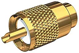 Shakespeare Gold Plated PL-259 Connector with UG176