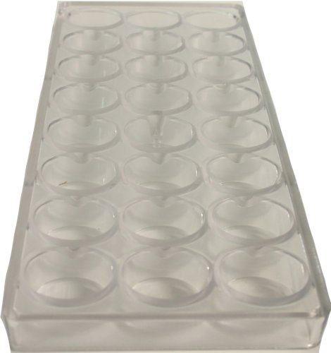 Martellato  Polycarbonate Chocolate Mold, Smooth Oval by Paderno World Cuisine