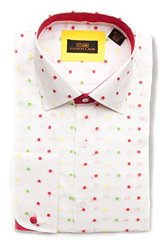 Steven land da164102wht343517 5 steven land dress shirt for French cuff shirts cheap